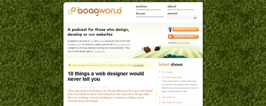 Screenshot de Boagworld.com