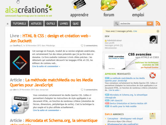IE10 Alsacreations Modern UI