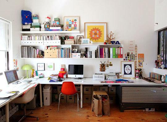 Un espace de travail pour de créatif