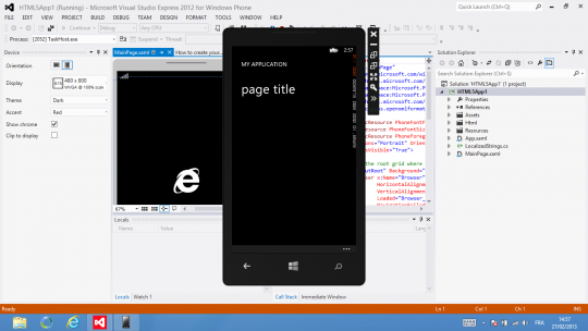 Windows Phone SDK Emulator