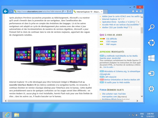 Windows8 IE10 Desktop