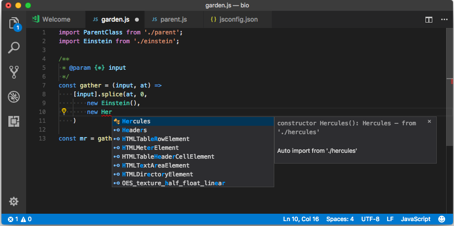 Typescript dans Visual Studio Code