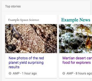 Exemples d'affichage riches dans une recherche Google