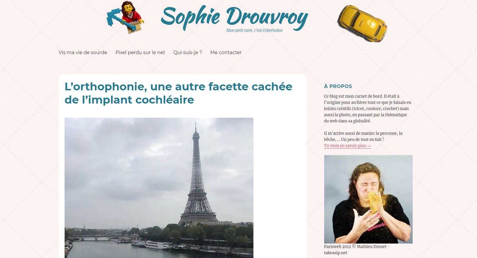 le site web sophie-drouvroy.com