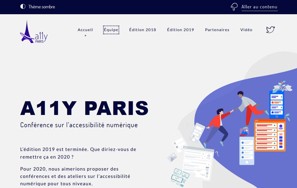 Le site web a11y Paris
