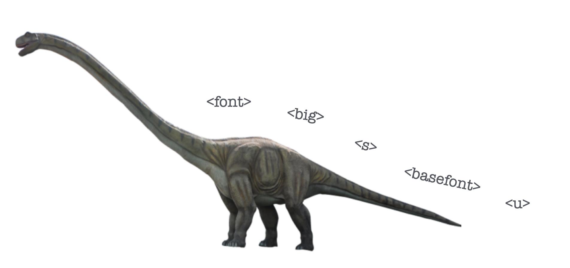 le dinosaure du HTML