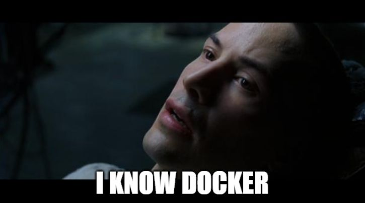 Docker meme I know kung fu