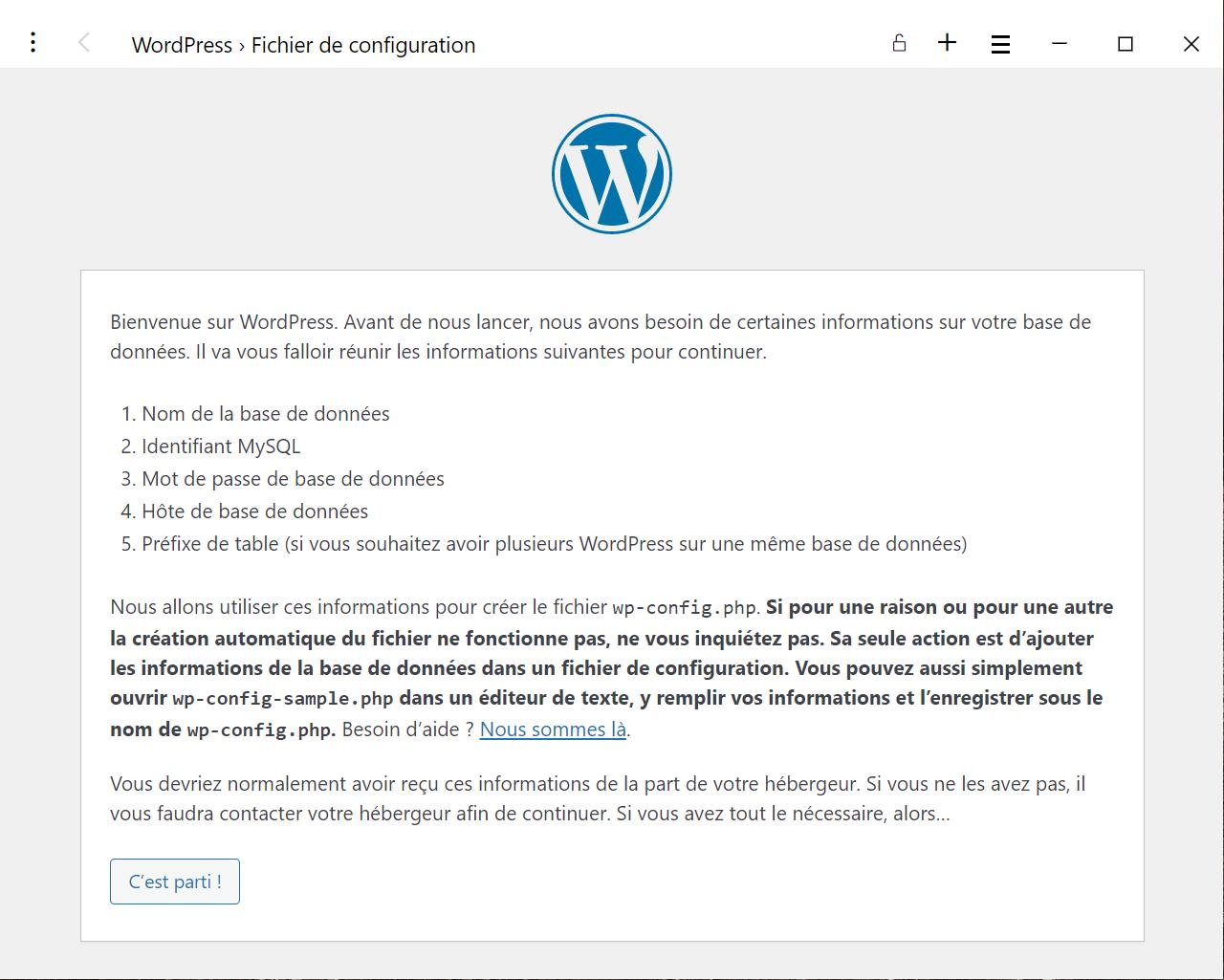 WordPress dans Docker