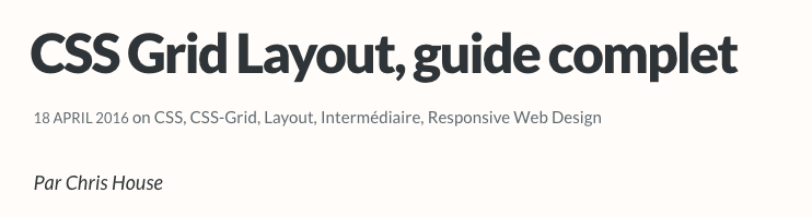 CSS grid layout, guide complet