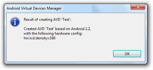 Android SDK AVD