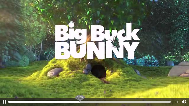 Big Buck Bunny HTML5 Video