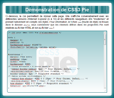 Page test CSS3 Pie