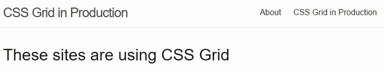 css grid in production