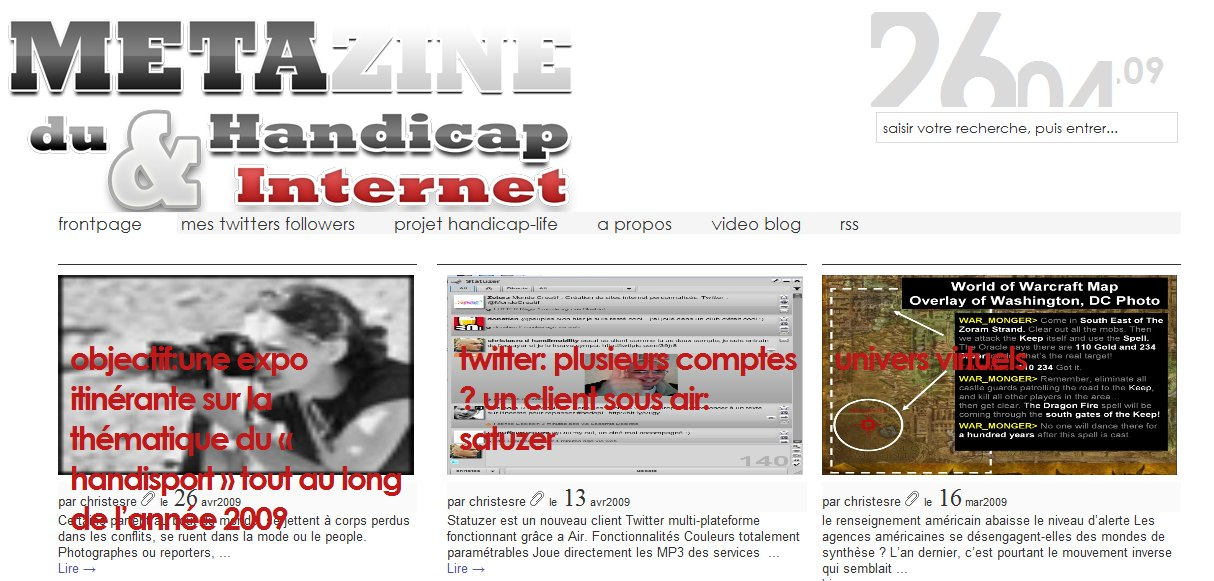 magazine handicap et internet
