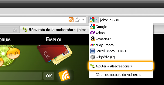 OpenSearch sur Alsacreations