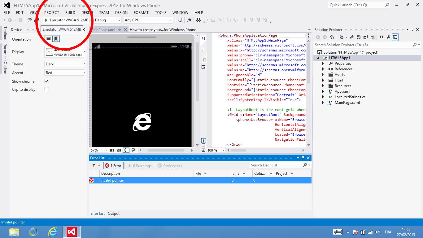 Une application HTML5 sous Windows Phone 8 - Alsacreations
