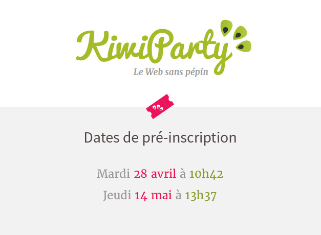 1- mardi 28 avril à 10h42 (100 places) 2- jeudi 14 mai à 13h37 (100 places)